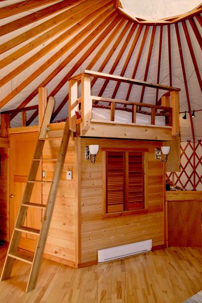Saltspring Yurt sleeping Accomodation