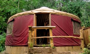 Yurt vacation rental accommodation on Salt Spring Island