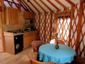 Yurt vacation rental with kitchen on Salt Spring Island